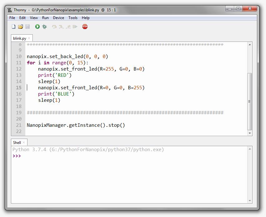 Python Nanopix Programming