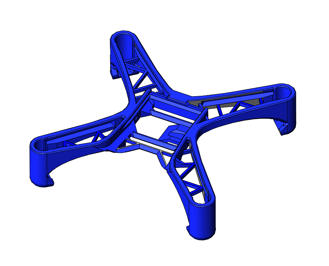 Nanopix quadcopter light frame 3d model