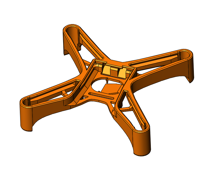 Nanopix quadcopter base frame 3d model